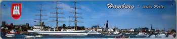 Hamburg meine Perle Blechschild
