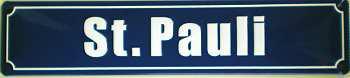 Straßennamenschild St. Pauli Blechschild - Vorschau