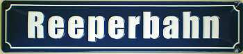 Straßennamenschild Reeperbahn Blechschild