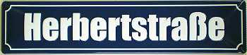 Straßennamenschild Herbertstraße Blechschild