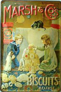 Marsh & Co's Biscuits Kinder Blechschild