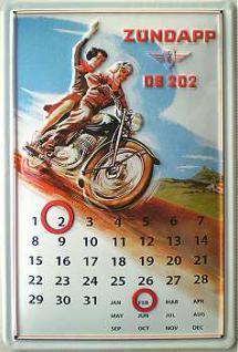 Zündapp DB202 Kalender Blechschild