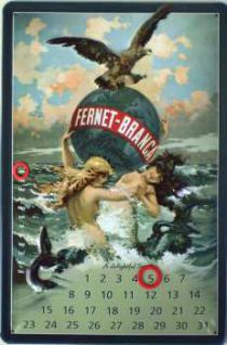 Fernet-Branca Kalender Blechschild
