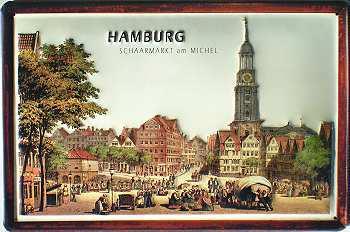 Hamburg Schaarmarkt am Michel Blechschild - Vorschau