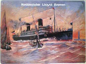 Norddeutscher Lloyd Bremen Blechschild - Vorschau