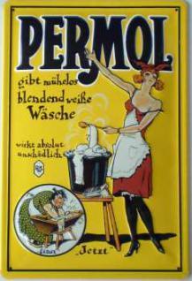 Permol Blechschild
