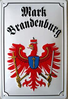 Mark Brandenburg Wappen Blechschild