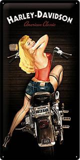 Harley-Davidson Biker Babe Blechschild - Vorschau