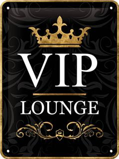 VIP Lounge Blechschild (15 x 20 cm) - Vorschau