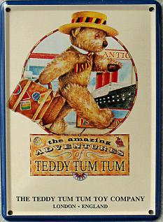 Teddy Tum Tum Mini Blechschild - Vorschau