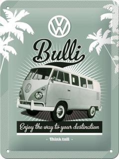VW - Retro Bulli Blechschild - Vorschau