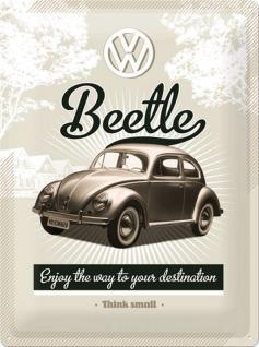 VW - Retro Beetle Blechschild