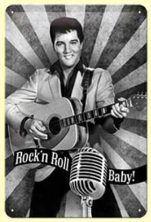 Elvis Rock'n Roll Baby Blechschild