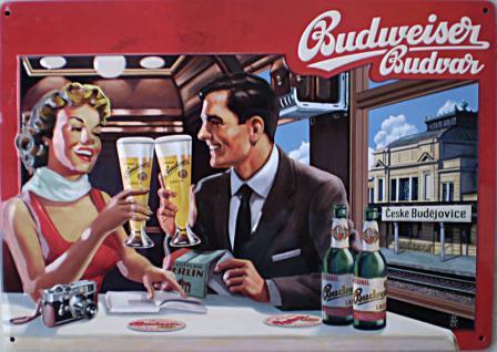 Budweiser - Paar Blechschild - Vorschau