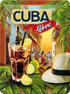 Cuba Libre Blechschild, 15 x 20 cm