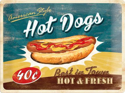 Hot Dogs Blechschild