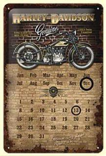 Harley-Davidson Brick Wall Kalender Blechschild - Vorschau