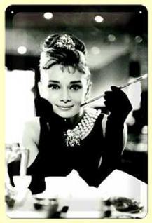 Audrey Hepburn Blechschild