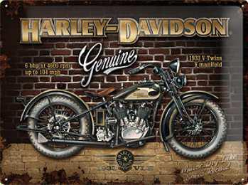 Harley-Davidson Brick Wall Blechschild