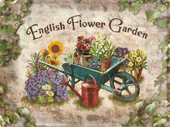 English Flower Garden Blechschild - Vorschau