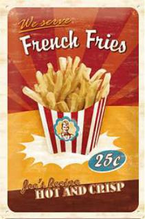 French Fries Blechschild