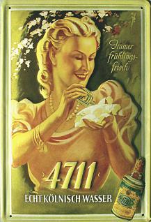 4711 immer frühlingsfrisch Dame Blechschild