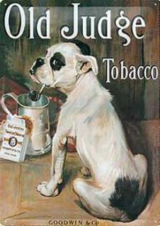 Old Judge Tobacco Blechschild - Vorschau