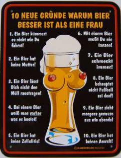 Funschild 10 neue Gründe warum Bier...