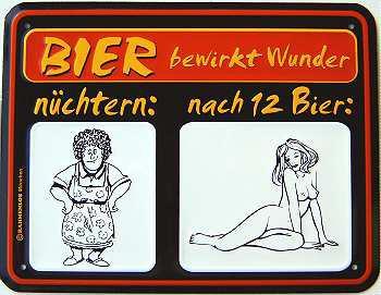 Funschild Bier bewirkt Wunder - Vorschau
