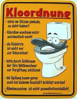 Funschild Kloordnung - Vorschau