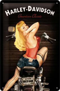 Harley-Davidson - Biker Babe Blechschild