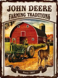 John Deere - Farming Traditions Blechschild