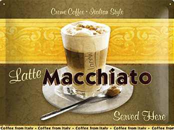 Latte Macchiato Italian Coffe Blechschild - Vorschau