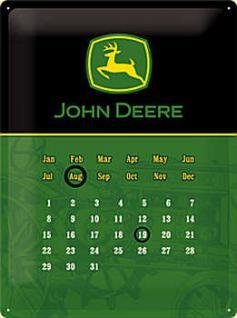 John Deere Kalender, schwarz Blechschild - Vorschau