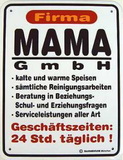 Funschild Firma Mama GmbH - Vorschau