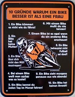 Funschild 10 Gründe warum ein Bike - Vorschau