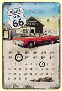 Route 66 Mother Road Kalender Blechschild - Vorschau