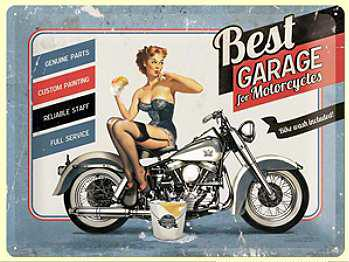 Best Garage for Motorcycles Blechschild