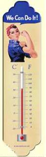We Can Do It Thermometer