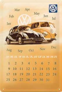 VW der Volkswagen Kalender Blechschild - Vorschau
