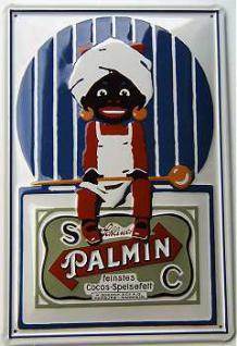 Palmin Blechschild