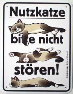 Funschild Nutzkatze - Vorschau