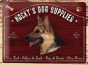 Rocky's Dog Supplies Blechschild