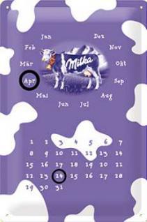 Milka Kalender Blechschild - Vorschau