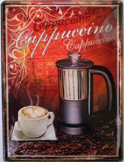 Cappuccino Blechschild - Vorschau