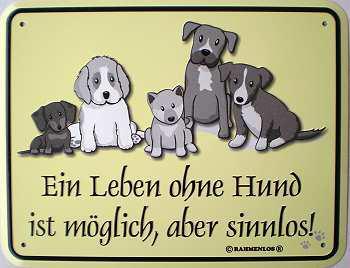 Funschild Ein Leben ohne Hund - Vorschau