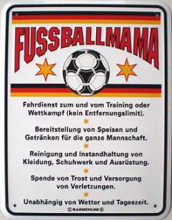 Funschild Fussballmama - Vorschau
