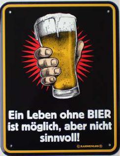 Funschild Ein Leben ohne Bier - Vorschau