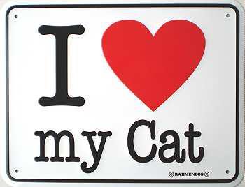 Funschild I love my Cat - Vorschau