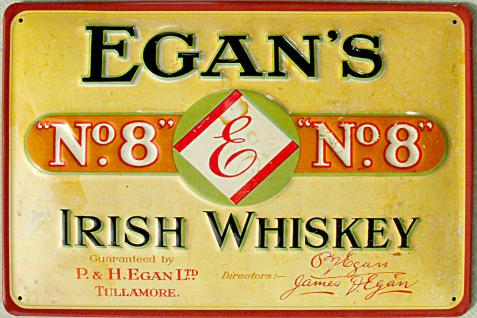Egan's No.8 Irish Whiskey Blechschild